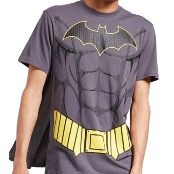 5be8901a DC Comics Shirts | Mens Batman Muscle Costume T Shirt With Cape ...